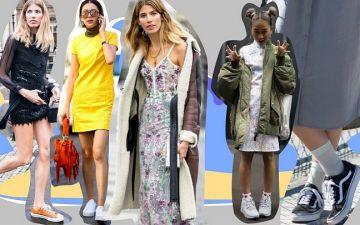 Ténis com vestido: 7 ideias para usar nos próximos tempos