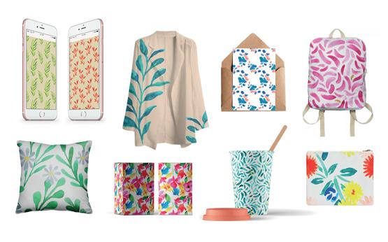 Sofia Alves e os padrões coloridos, da tela para o mundo