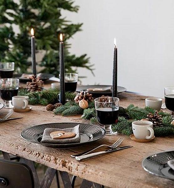 13 ideias de decorações de mesas de Natal deste ano