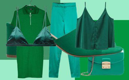 Vista verde. Vamos ser otimistas através das roupas