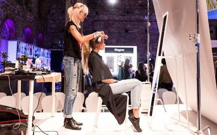 produção de moda ao vivo