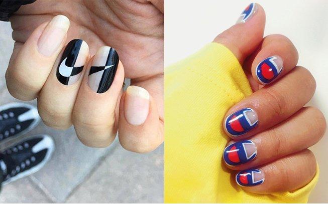 Logo nails: as unhas com logotipos são tendência (tente não estranhar)
