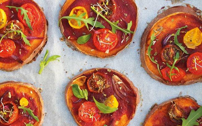 Minipizzas simbióticas de batata-doce, a receita saudável e funcional