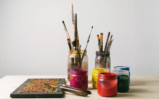 espaço para as tintas