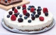 cheesecake de lima e baunilha saudável