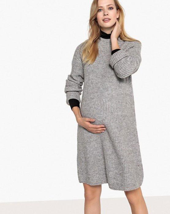 Vestido de Inverno para Gestante – Tecidos e Cores   Moda