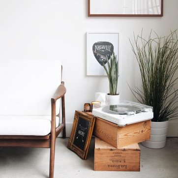 gira-discos decoração vintage