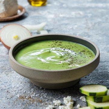 Sopa de curgete com requeijão