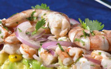 Ceviche de camarão com abacate e milho para ser uma verdadeira chef ( quase sem esforço)