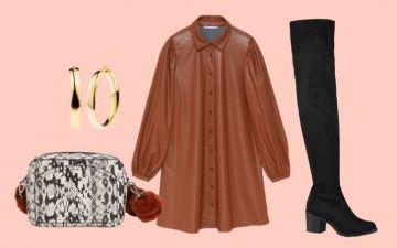 5 looks para 5 dias: os vestidos de cabedal (ou pele sintética) são a aposta para o outono
