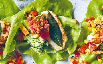 Taco de alface com halloumi é a solução para uma refeição leve e saborosa